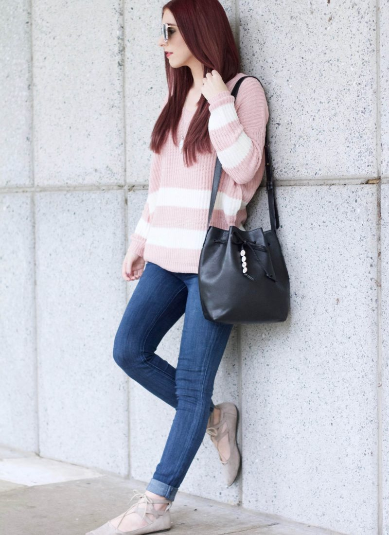 Pink About It: Keeping Cozy in Varsity Stripes
