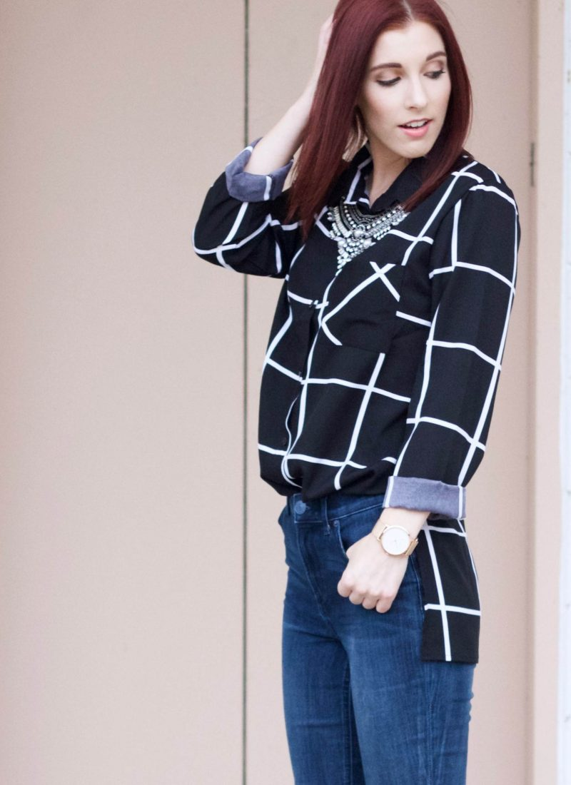 Check it Out: The Grid Print Blouse Part 1 // She Saw Style
