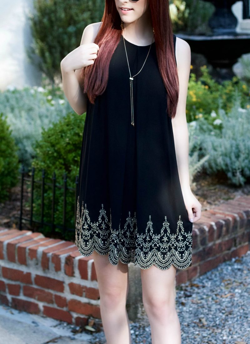 Black and Gold: The Classic Party Dress // She Saw Style