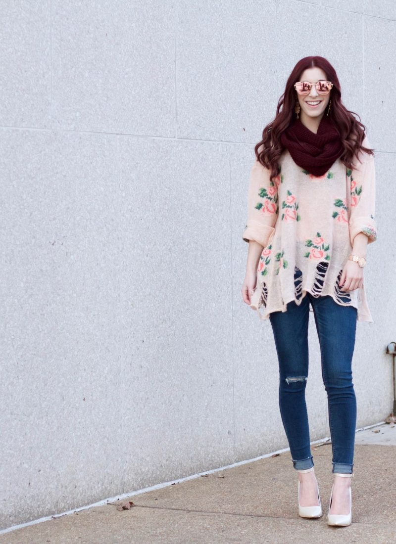 Brightest Winter Blooms: Mixing Edgy With Girly // She Saw Style