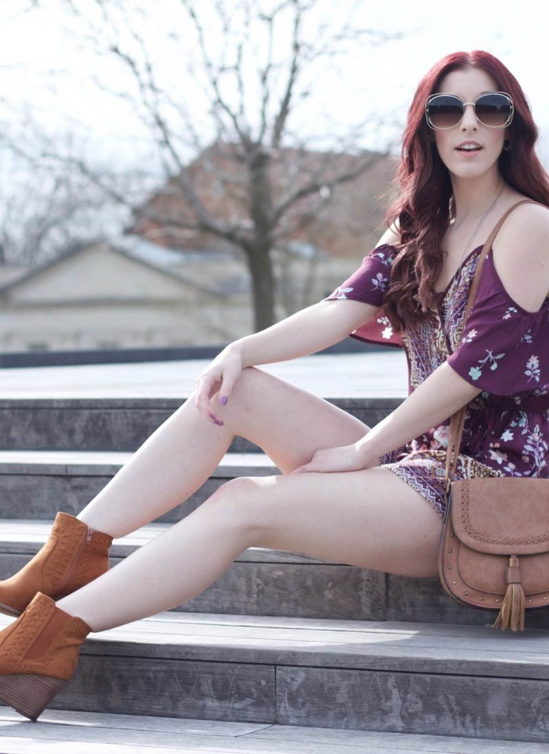 Prettiest in Purple Paisley: Cold Shoulder Playsuit and Target Sale