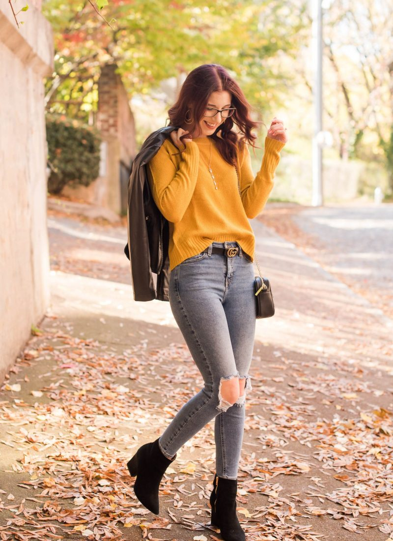 3 Ways to Re-Wear a Mustard Sweater