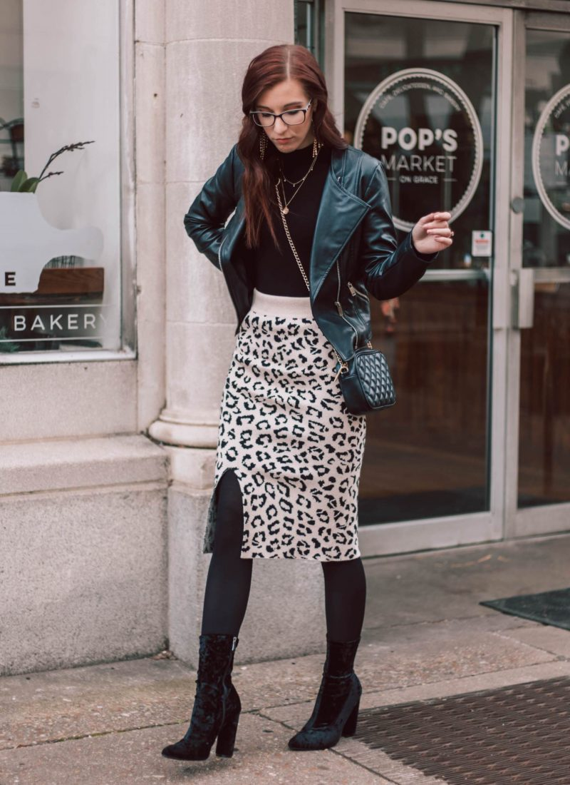 What to Wear With a Leopard Print Bodycon Skirt