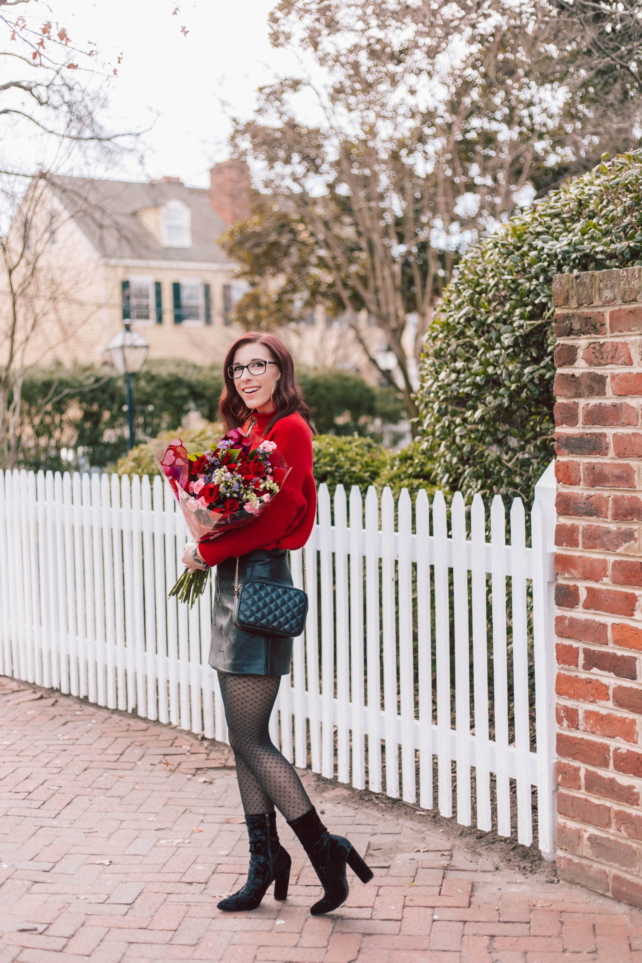 Another Way to Wear a Chunky Red Sweater