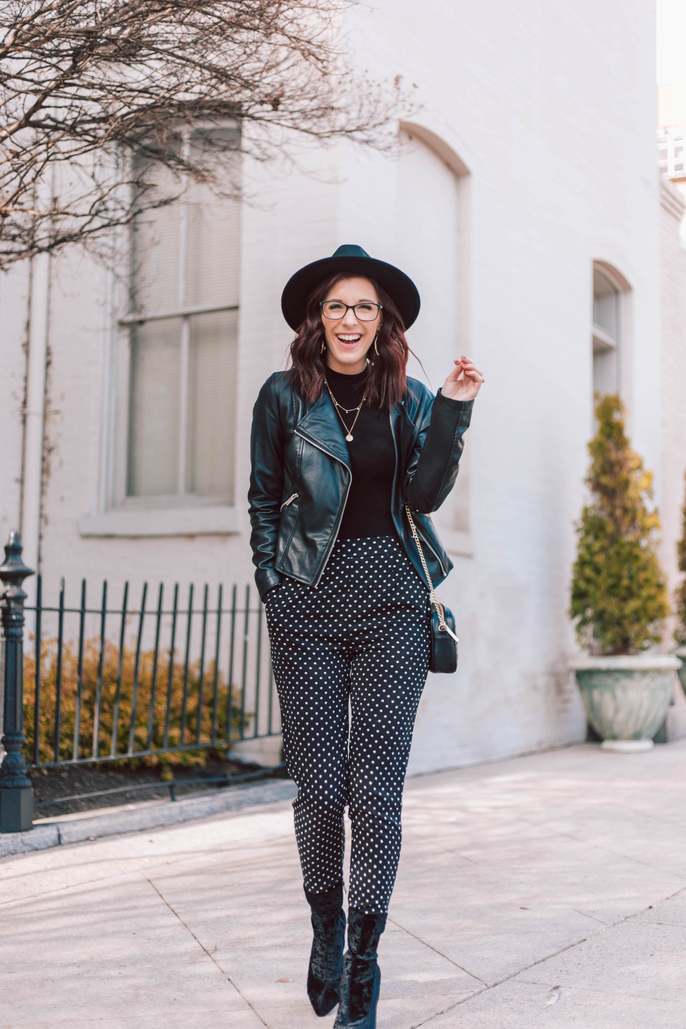 Making a Statement with Polka Dot Pants