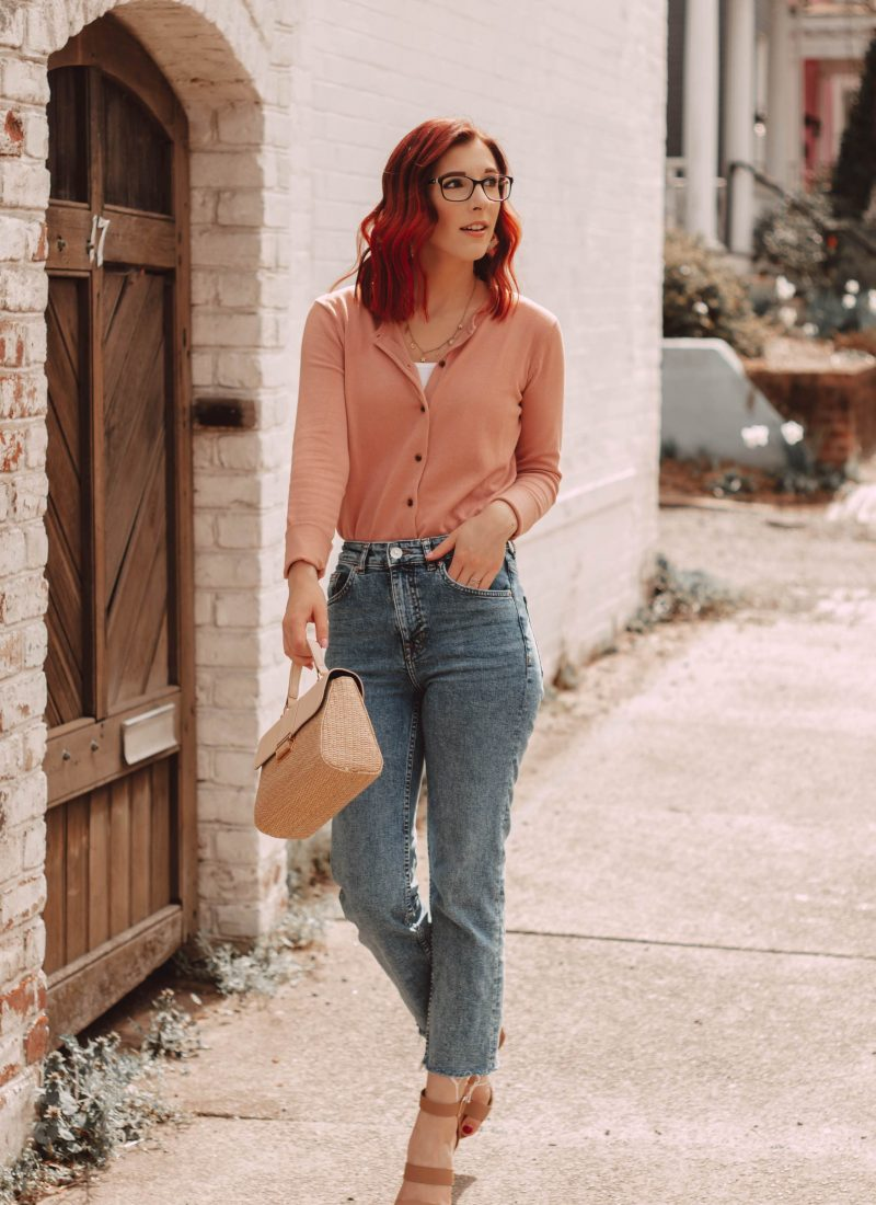 How to Dress Up a Cardigan and Straight Leg Denim