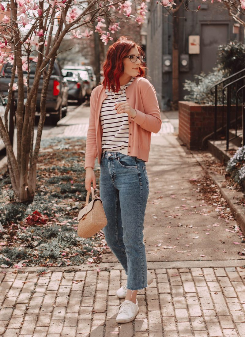 How to Style Straight Leg Jeans for Spring | She Saw Style