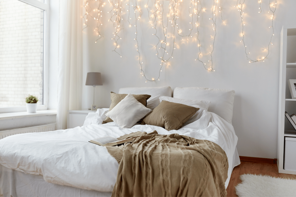 Cozy Bedroom With Twinkle Lights