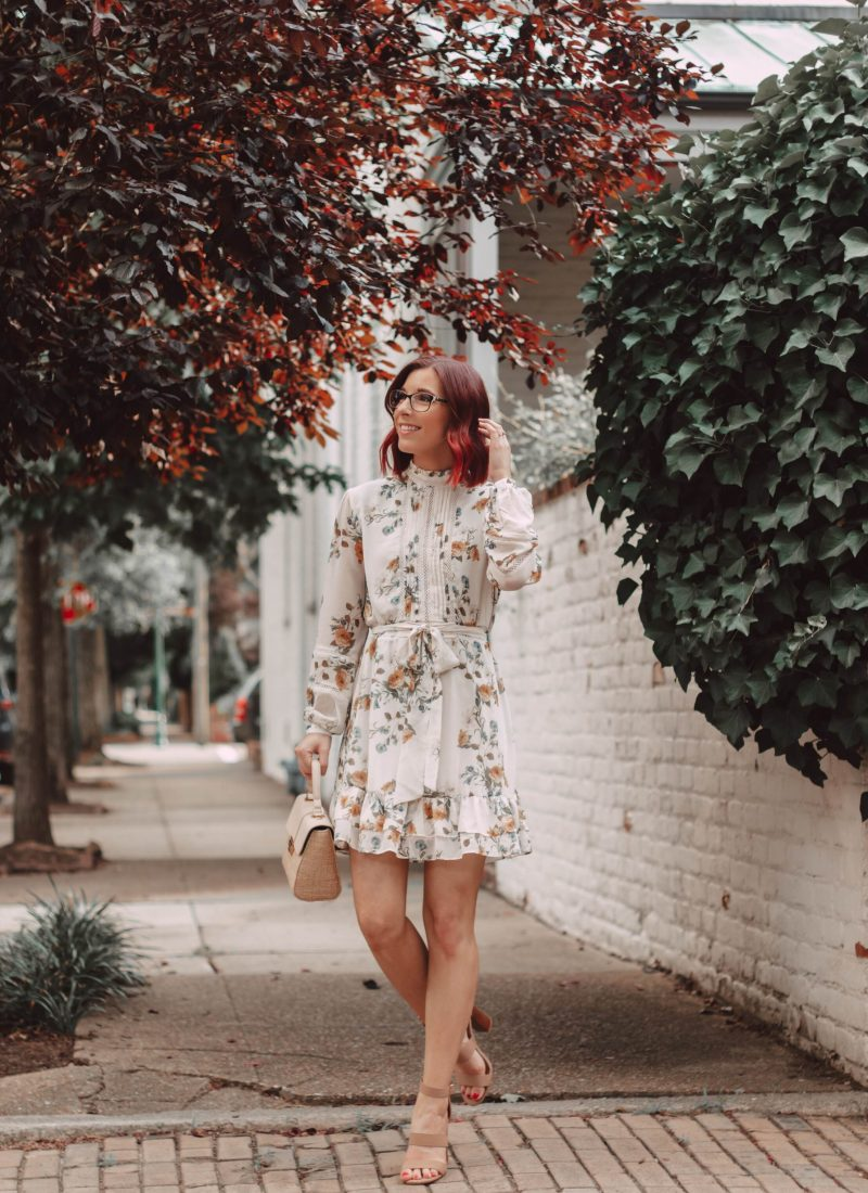 Why You Need a Floral Mini Dress With Sleeves