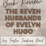 hand pouring coffee from french press into mug with the seven husbands of evelyn hugo book open in foreground